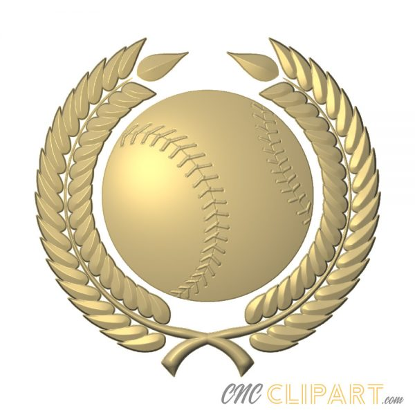 A 3D Relief Model of a Baseball with Laurels