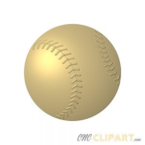 A 3D Relief Model of a Baseball