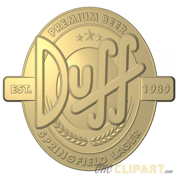 A 3D Relief Model of the Duff Beer Sign