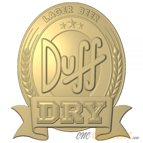 A 3D Relief Model of the Duff Dry Beer Sign