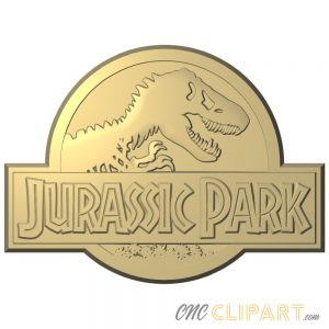 A 3D Relief Model of the Jurassic Park Sign