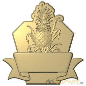 A 3D Relief Model of Pineapple sign base