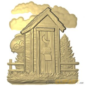 A 3D Relief Model of a design that can be used as a female restroom sign