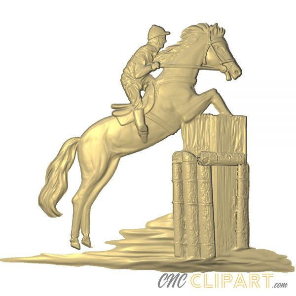 A 3D Relief Model of Equestrian Sports or Show Jumping