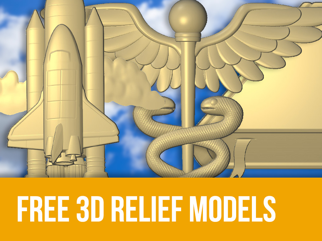Free 3D Relief Models