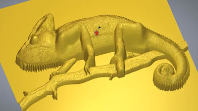 Carveco relief model of a gecko