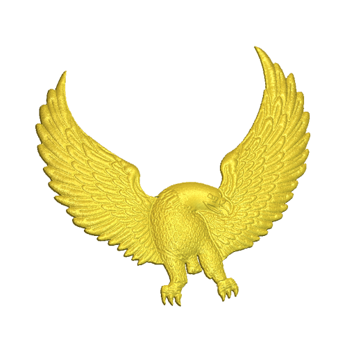 Eagle flying relief model