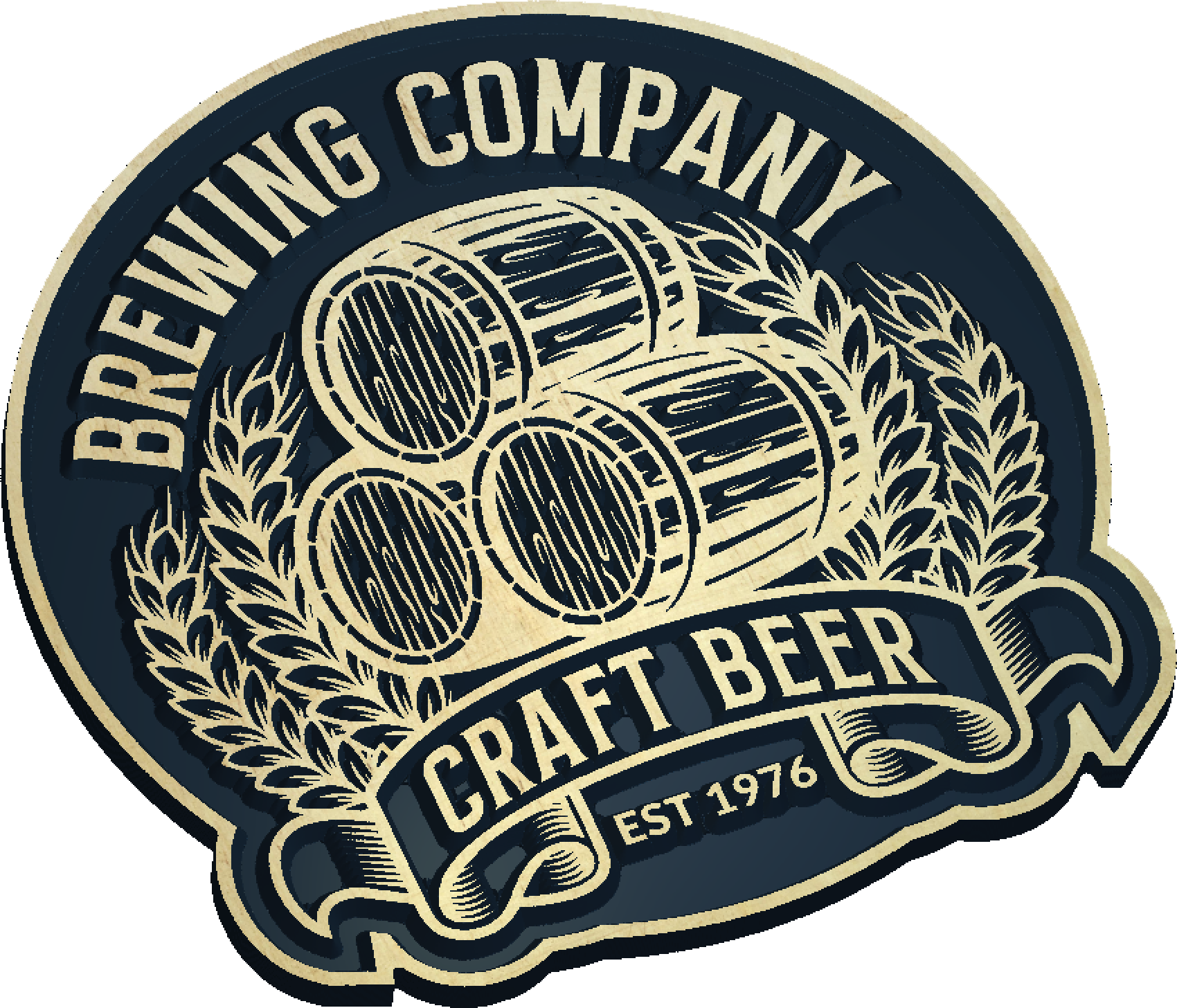 Craft Beer Brewing Company Sign