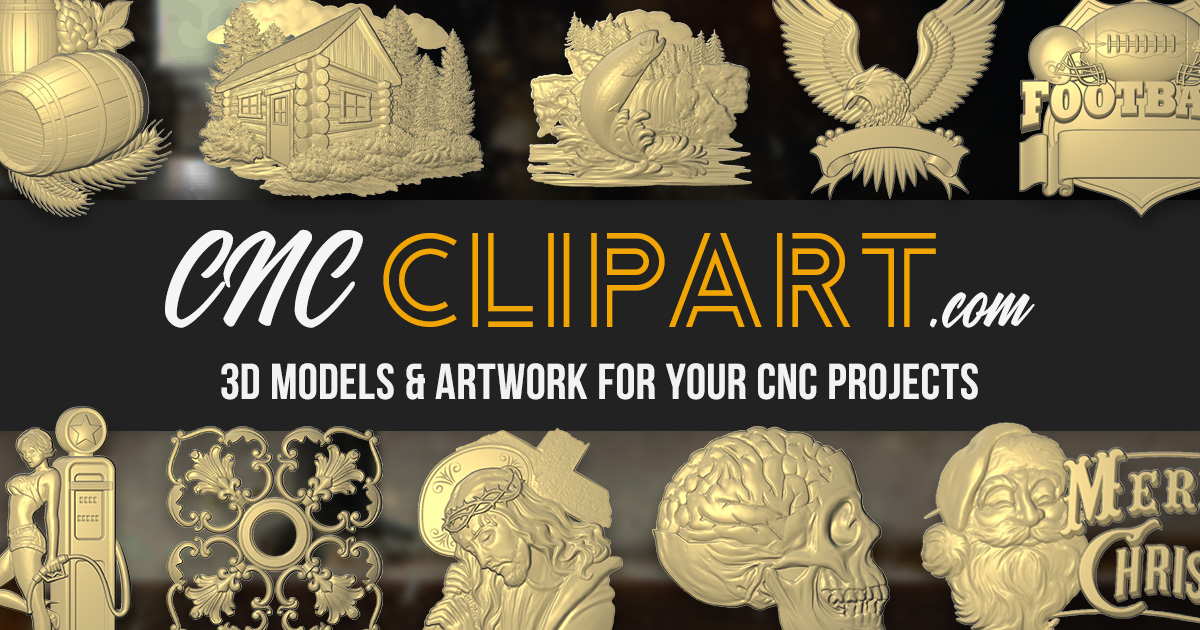 Introducing CNC Clipart - 3D Models and Artwork for your CNC